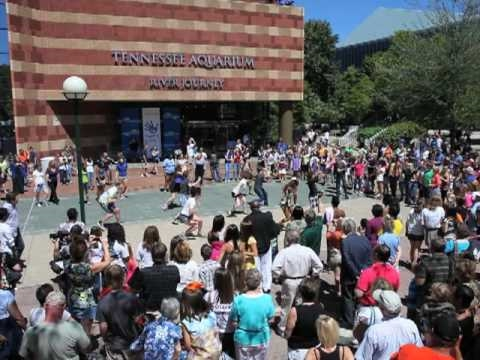 Footloose in Chattanooga - Dance Explodes in Front of TN Aquarium
