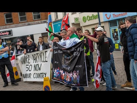 EDL Protest In Boston On Lincolnshire Day