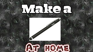 Make a stylus at home(Diy)