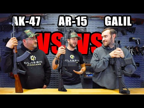 AK-47 vs AR-15 vs Galil
