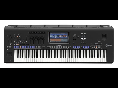 Genos Yamaha Digital music station Full demos part two..