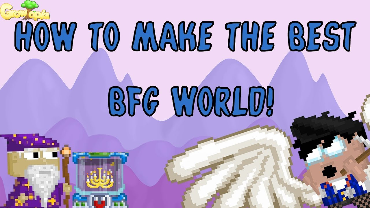 How to make the BEST & CHEAPEST BFG world! | Growtopia
