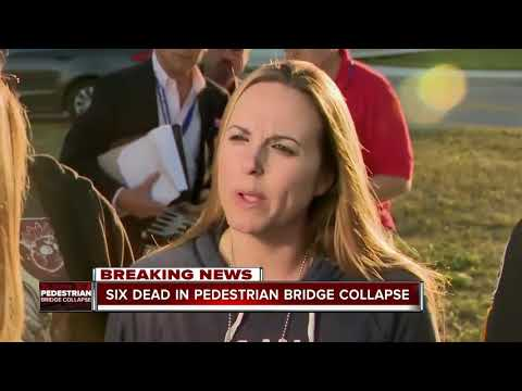 Six people dead in Florida bridge collapse, recovery mission underway for additional victims