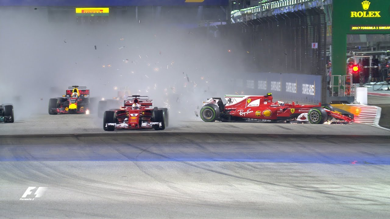 F1: Top 10 Dramatic Moments Of 2017 - YouTube