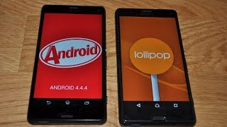 Sony XPERIA Z3 Compact Android 4.4.4 KitKat versus Android 5.0.2 Lollipop