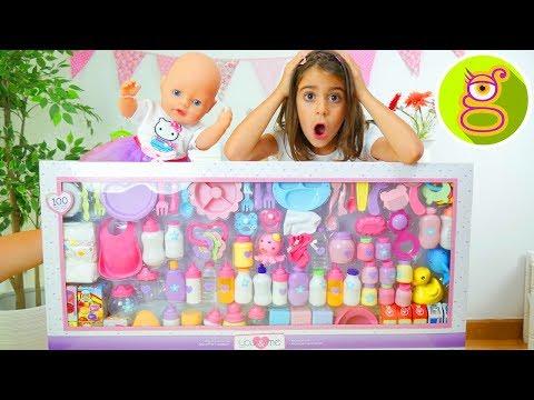 100 ACCESORIOS para BEB  Set gigante de accesorios para BABY BORN o BEBS NENUCO con LARA