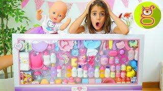 100 ACCESORIOS para BEBE Set gigante de accesorios para BABY BORN o BEBES NENUCO con LARA