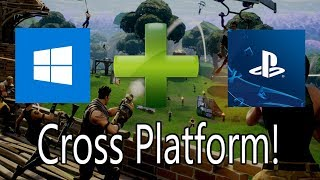How to Play Fortnite Cross Platform PC to PS4! (Still Working)