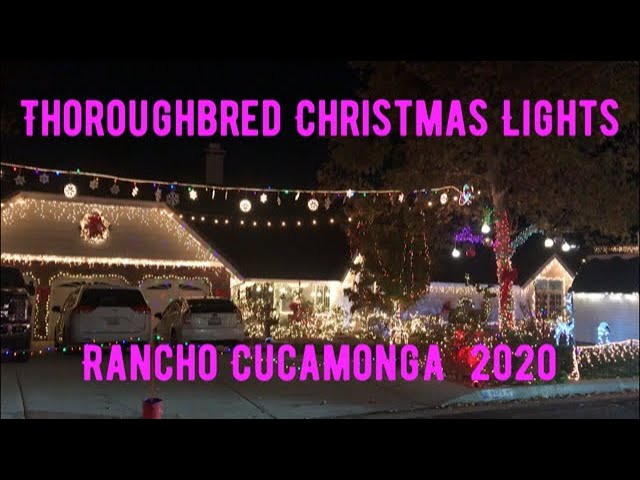 Thoroughbred Christmas Lights 2021 Schedule Visiting The Famous Thoroughbred Christmas Lights In Rancho Cucamonga Holidays 2020 Youtube
