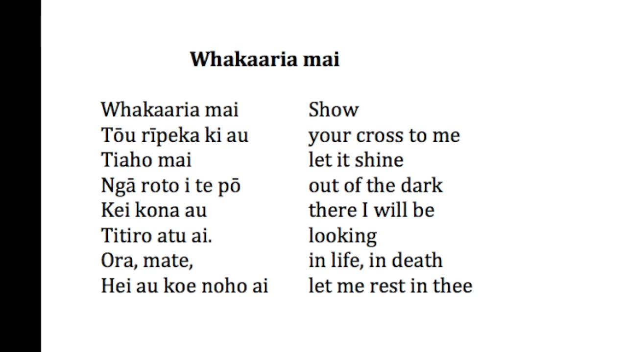Image result for whakaaria mai lyrics