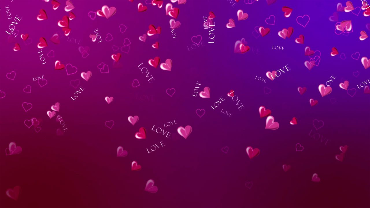free hd love background with hearts romantic wedding background