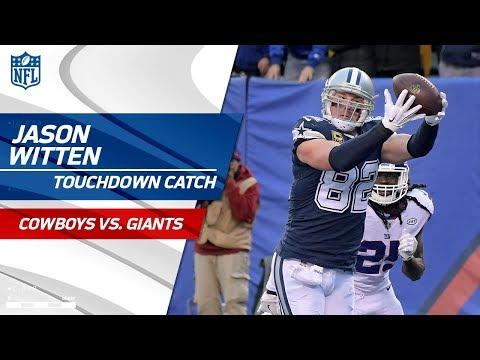 Prescott's TD Pass to Witten Set Up by Beasley's Huge Catch-'n-Run | Cowboys vs. Giants | NFL Wk 14