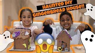 Halloween Haunted Gingerbread House DIY | FamousTubeKIDS