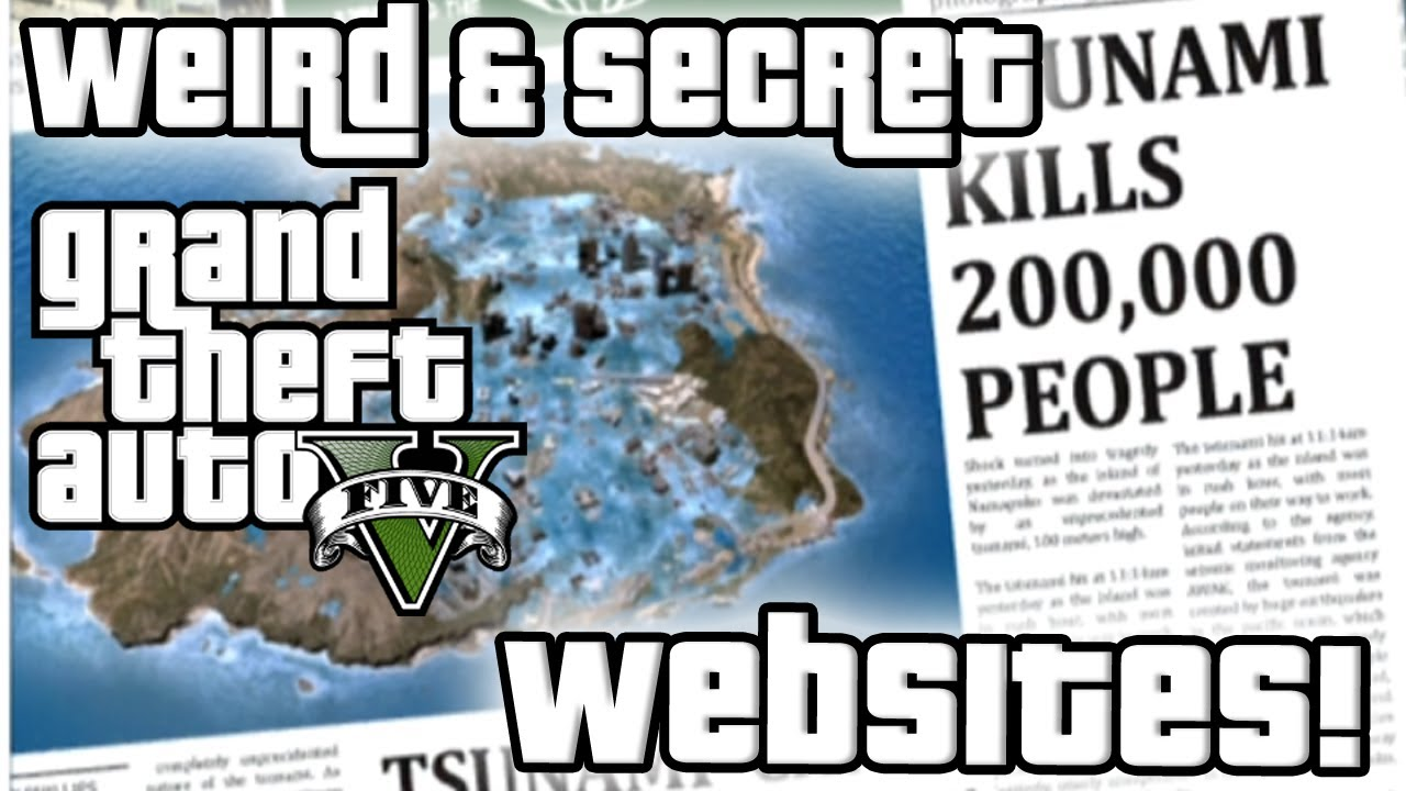 GTA5 Hit By Tsunami! Weird & Secret Websites Found on Grand Theft Auto V!