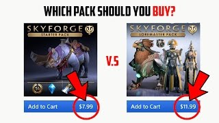 Skyforge PS4 - Eli Immortal Pack vs Loremaster Pack (Pros and Cons)