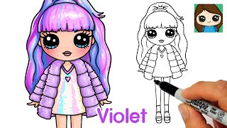 How to Draw a Rainbow High Fashion Doll  Violet