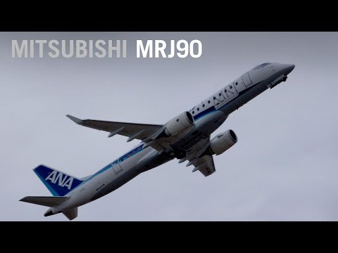 Mitsubishi MRJ Airliner Flies For Farnborough Airshow Crowds – AINtv Express