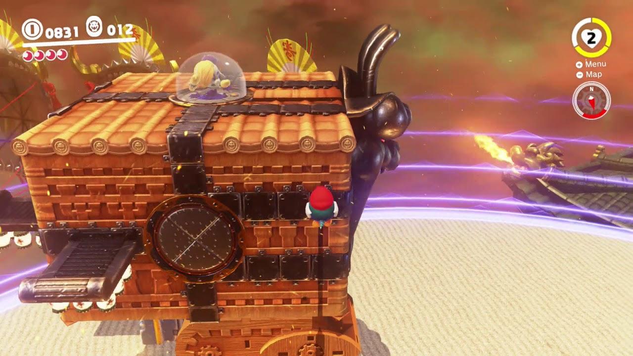 Super Mario Odyssey How To Beat Mecha Broodal Bowser S Kingdom