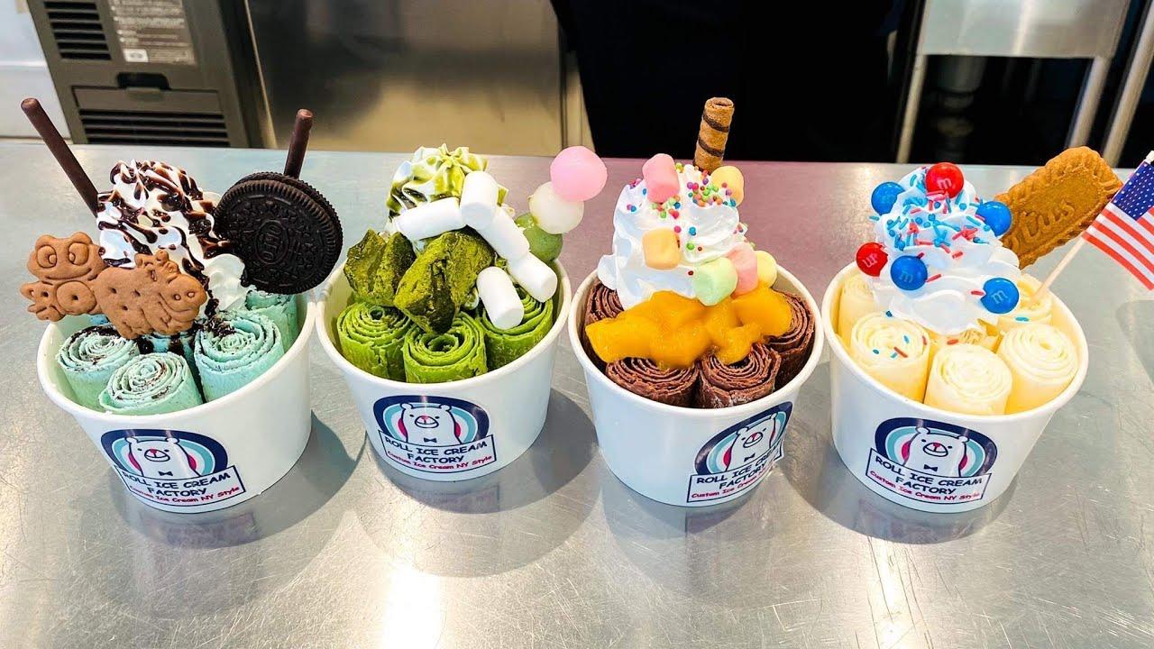 japanese food - Ice Cream Rolls  ロールアイス