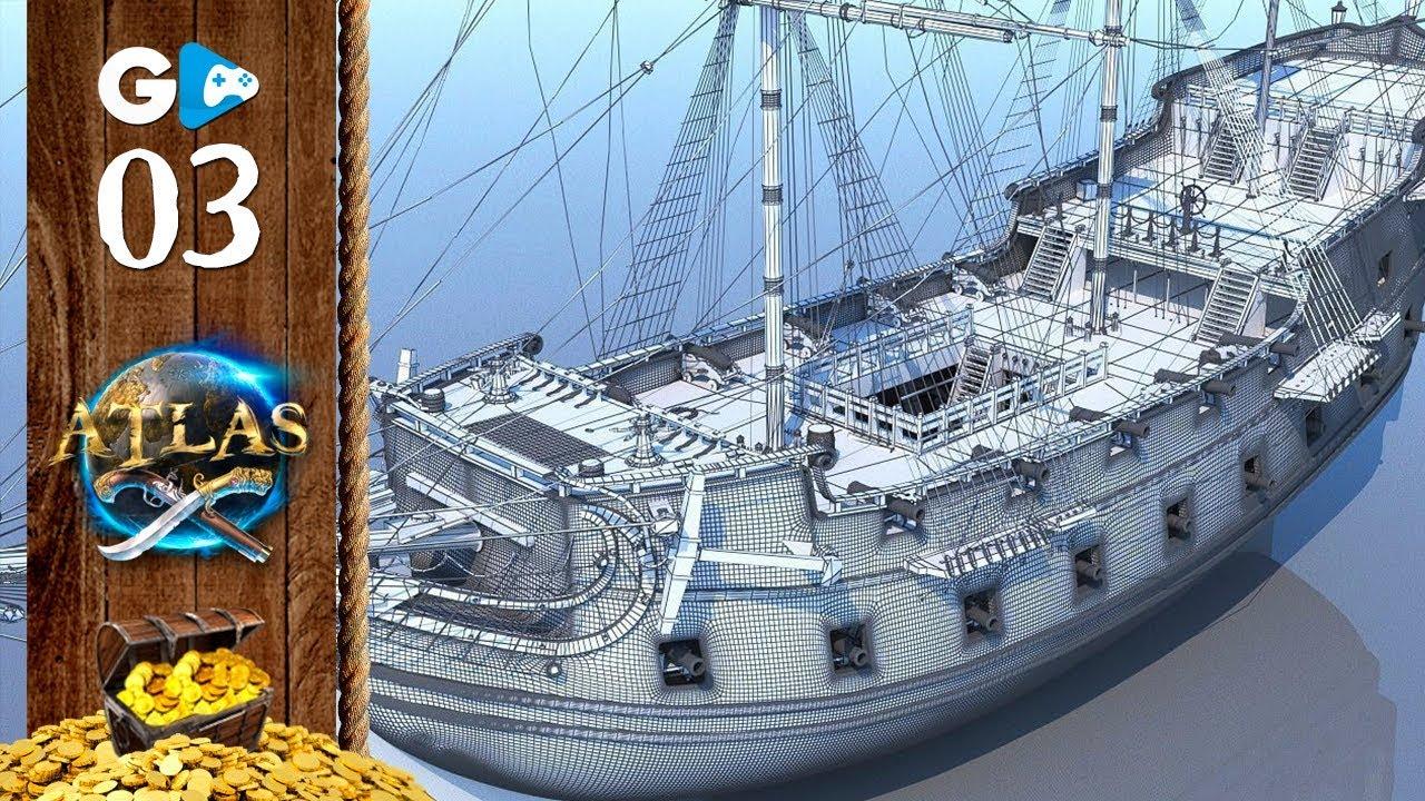 ATLAS - Construindo o GALEÃO, MAIOR BARCO DA HISTÓRIA dos Games, Construção Completa