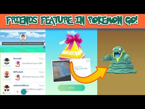ADDING FRIENDS IN POKEMON GO PLUS OPENING UP GIFTS!