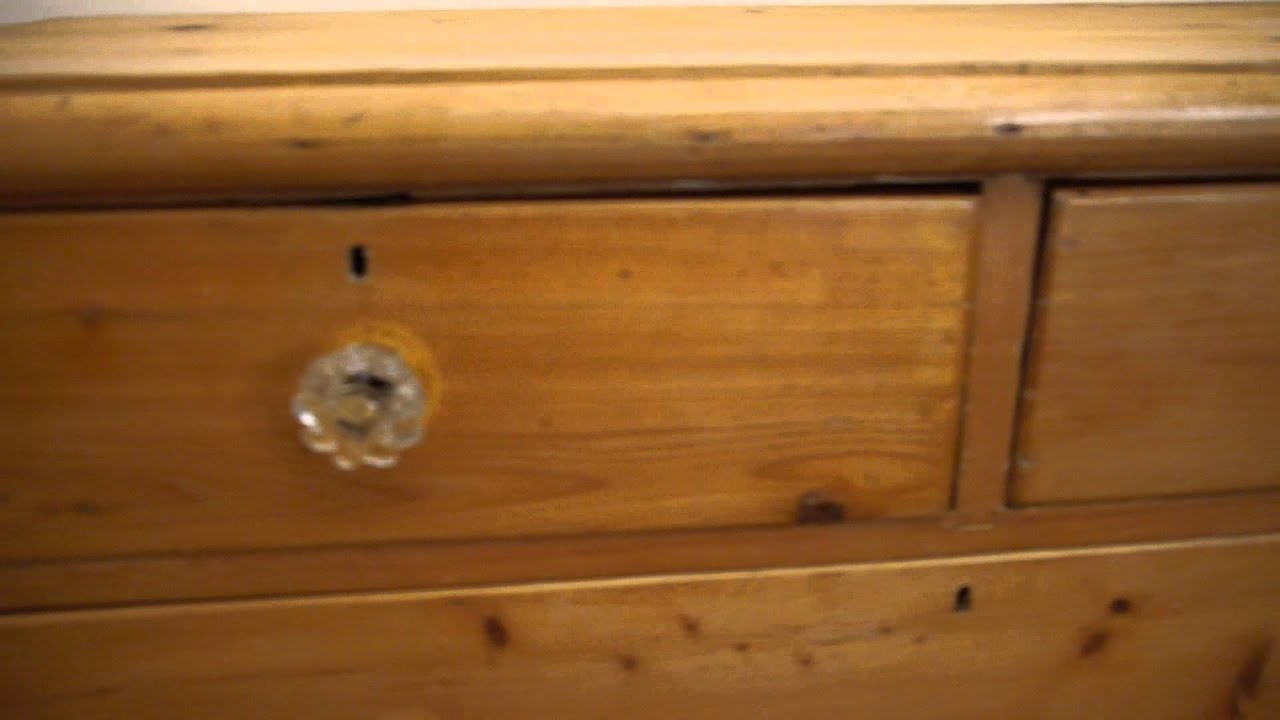 antique victorian pine chest of drawers glass handles youtube. Black Bedroom Furniture Sets. Home Design Ideas