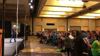 Hear 2,000 choir teachers in a room. Eric Whitcre - Sleep, TMEA 2018
