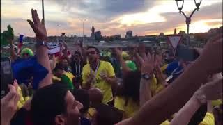 Torcida do Brasil na Rússia cria música para os títulos da seleção