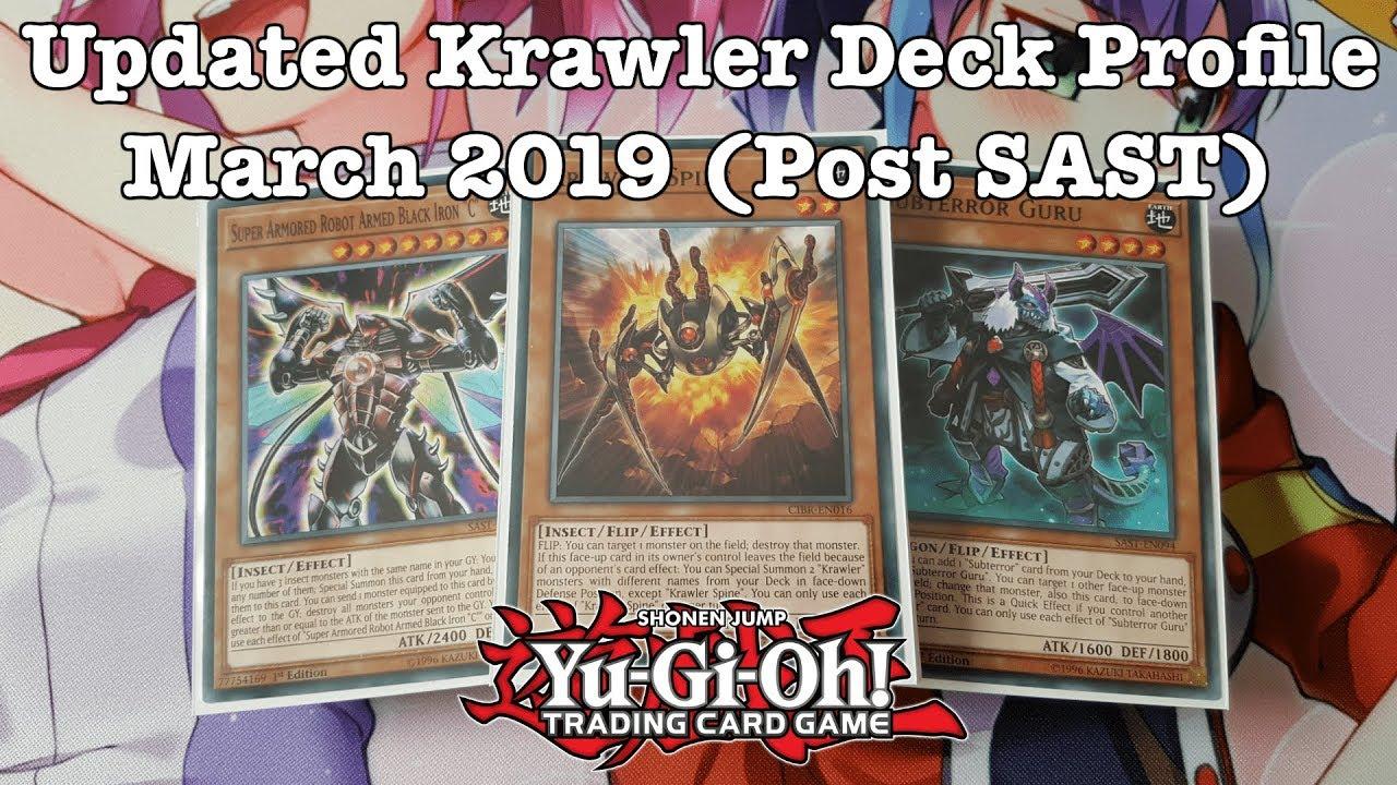 Yugioh Updated Krawler Deck Profile March 2019 Post Sast Youtube
