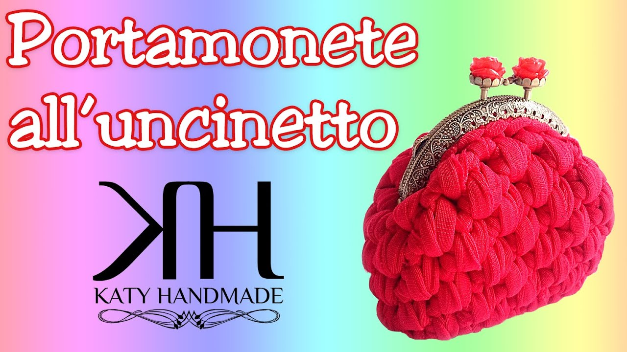 Amato PORTAMONETE ALL'UNCINETTO | Crochet coin purse | PUNTO CANESTRO  CS51