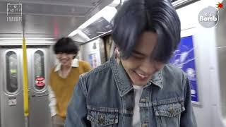 【繁中字幕】BTS 防彈少年團 #BANGTANBOMB - Tonight Show Subway(備註看留言)