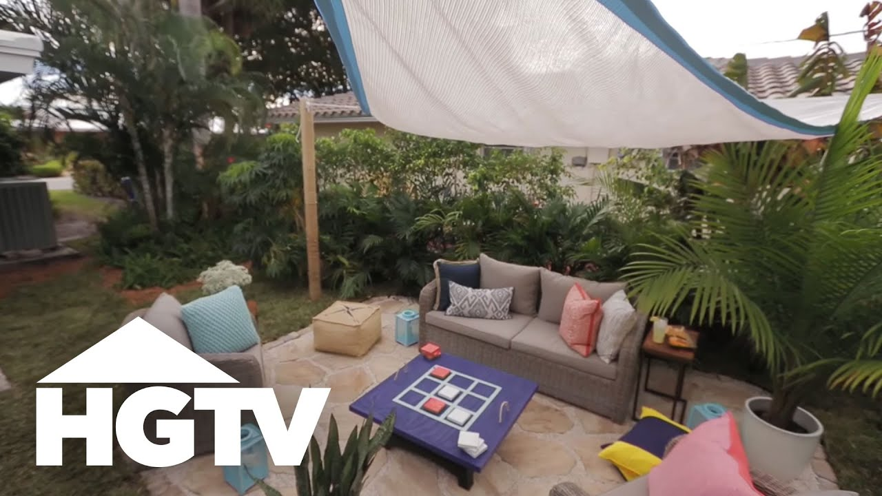 How To Install A Shade Sail Hgtv Youtube
