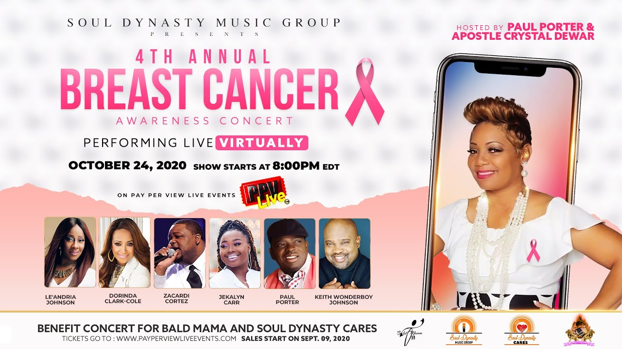 THE 4th ANNUAL BREAST CANCER AWARENESS CONCERT-SOUL DYNASTY GROUP
