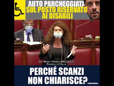Maria Teresa Bellucci: Auto parcheggiata su posto riservato ai disabili. Scanzi vogliamo chiarimenti