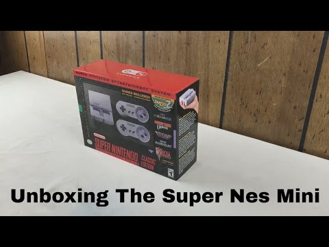 Super NES Nintendo Mini Classic Unboxing - First time Look!!!