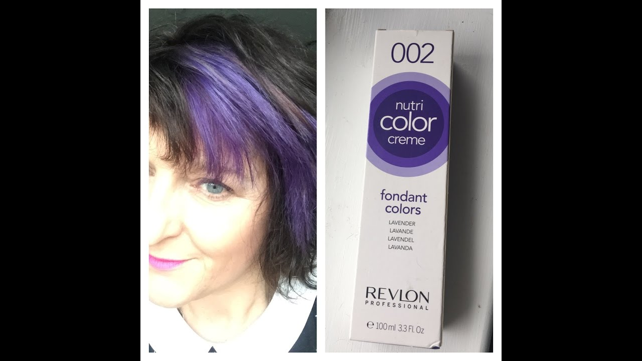 colouring my hair purple with revlon nutri color lavender - Nutri Color Creme Revlon