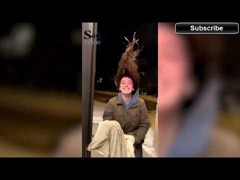 The News Junkie - Woman's Hair Freezes Upright In Iowa