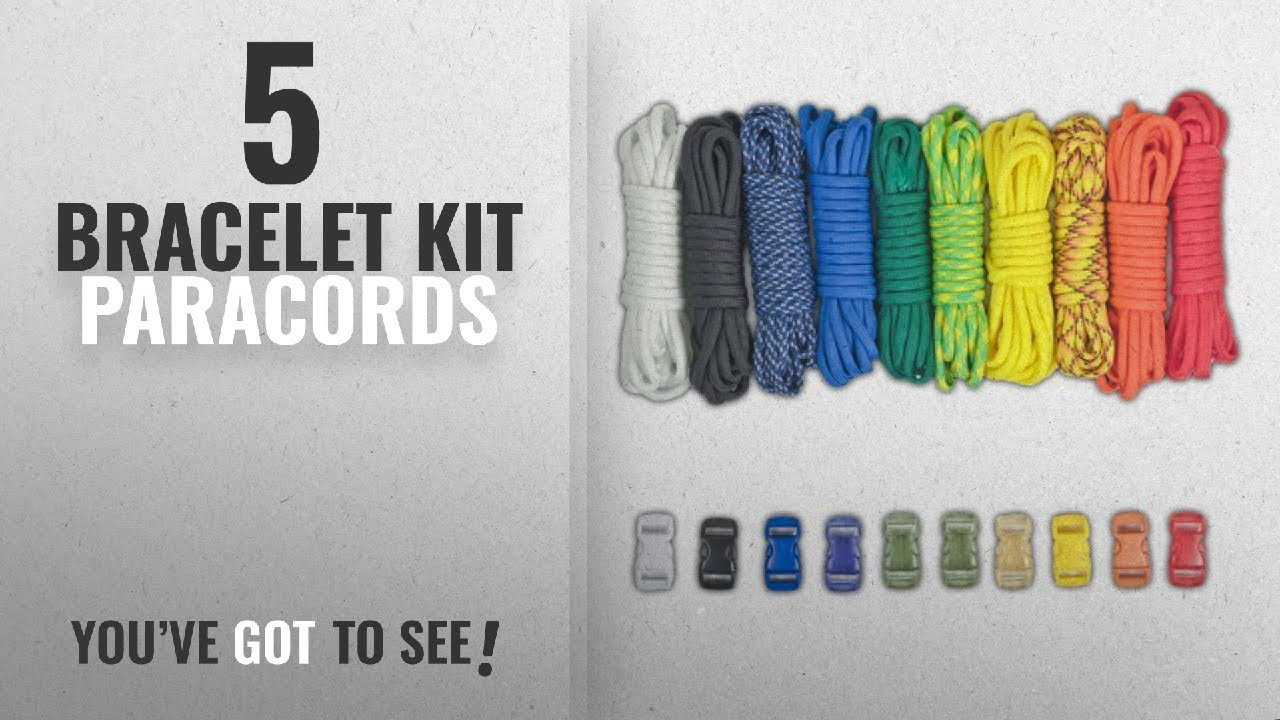 Top 5 Bracelet Kit Paracords  2018   Paracord Planet Paracord Survival  Bracelet Project Rainbow 641b8cf8c19