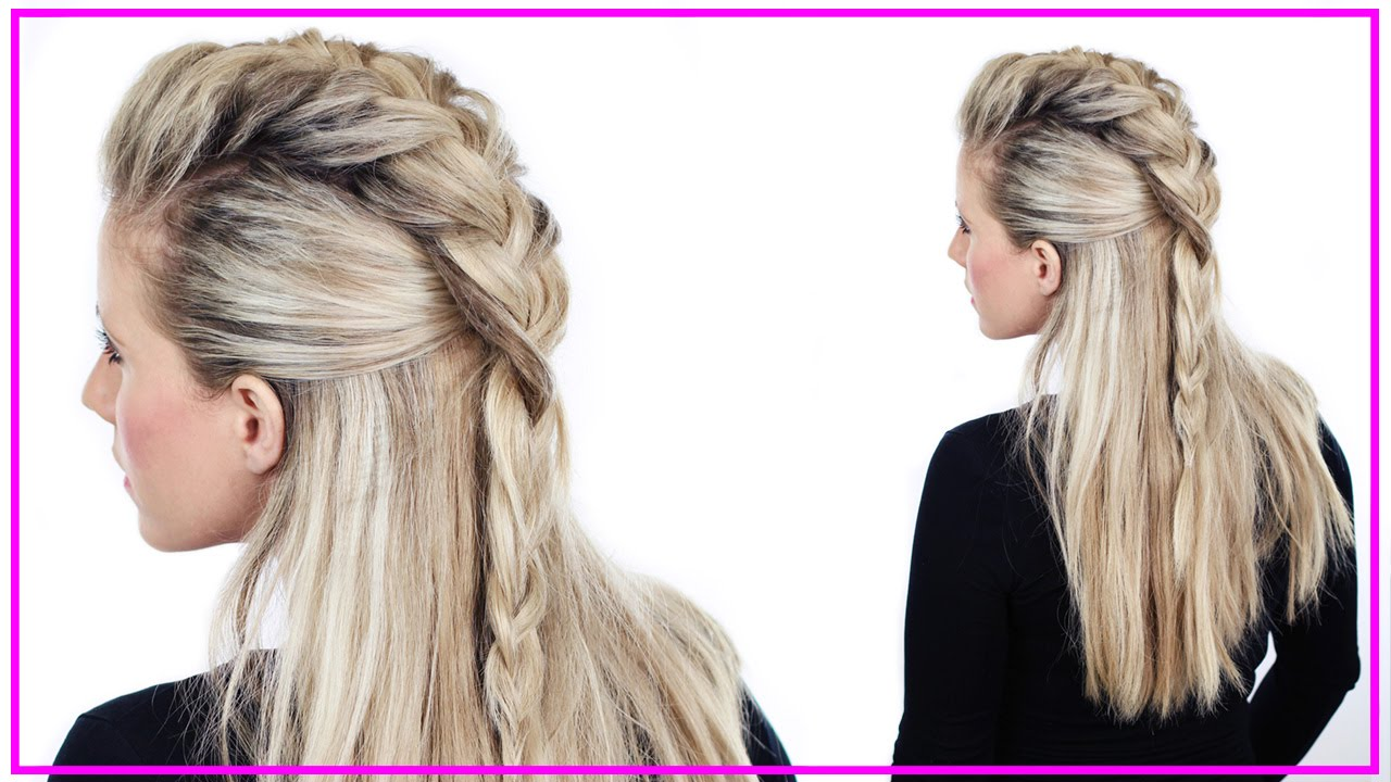 Hair Styles With Braids: Half Up Faux Hawk Tutorial