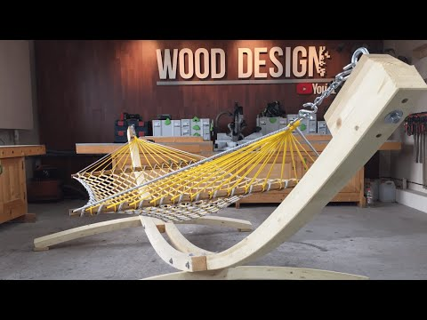 Hammock. How to build a Hammock stand. Woodworking.