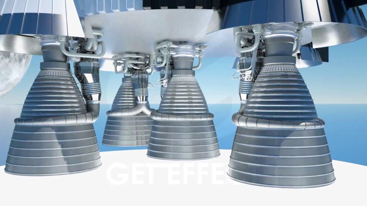 NASA SATURN V ROCKETDYNE F1 ROCKET ENGINE, AN ANIMATED ...