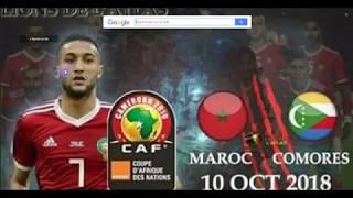 Maroc vs Comores Live 19H00 GMT+1