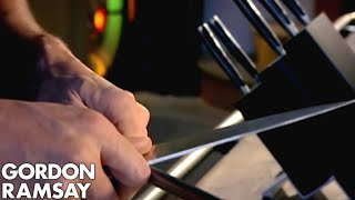 How To Sharpen A Knife - Gordon Ramsay