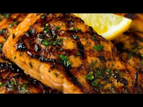 Grilled Lemon Garlic Salmon Recipe