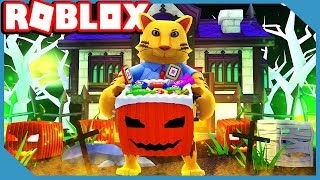 PLAYING AT 3 AM CHALLENGE! ROBLOX HALLOWEEN SIMULATOR