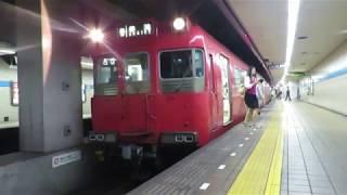 名古屋市営地下鉄鶴舞線 名鉄100系 赤池行 大須観音駅到着