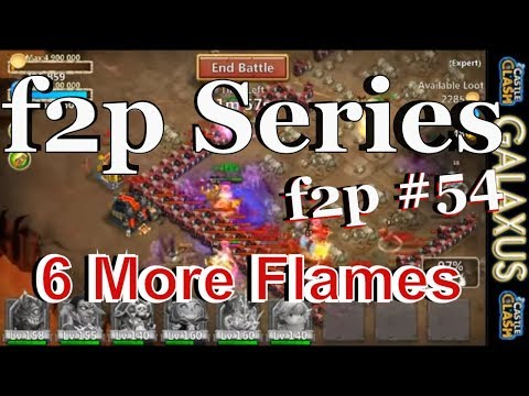 |:|f2p Episode#54|:| Beating Expert Dungeons 8-3 & 8-4 And Getting More Flames Castle Clash