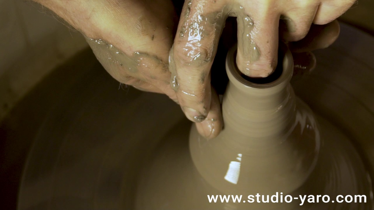 Видео съемка изготовления тонкостенных гончарных кубков