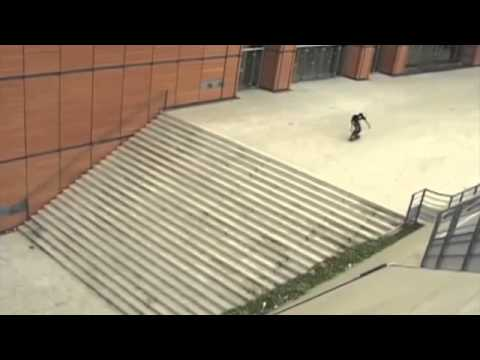 Ali Boulala — 25 stairs ollie, all attempts