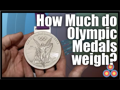 How Much Do Olympic Medals Weigh?  Lets Find Out How Many Club Medals Take To Equal One Silver Medal
